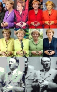 Angela Merkel - Hitler - triangle